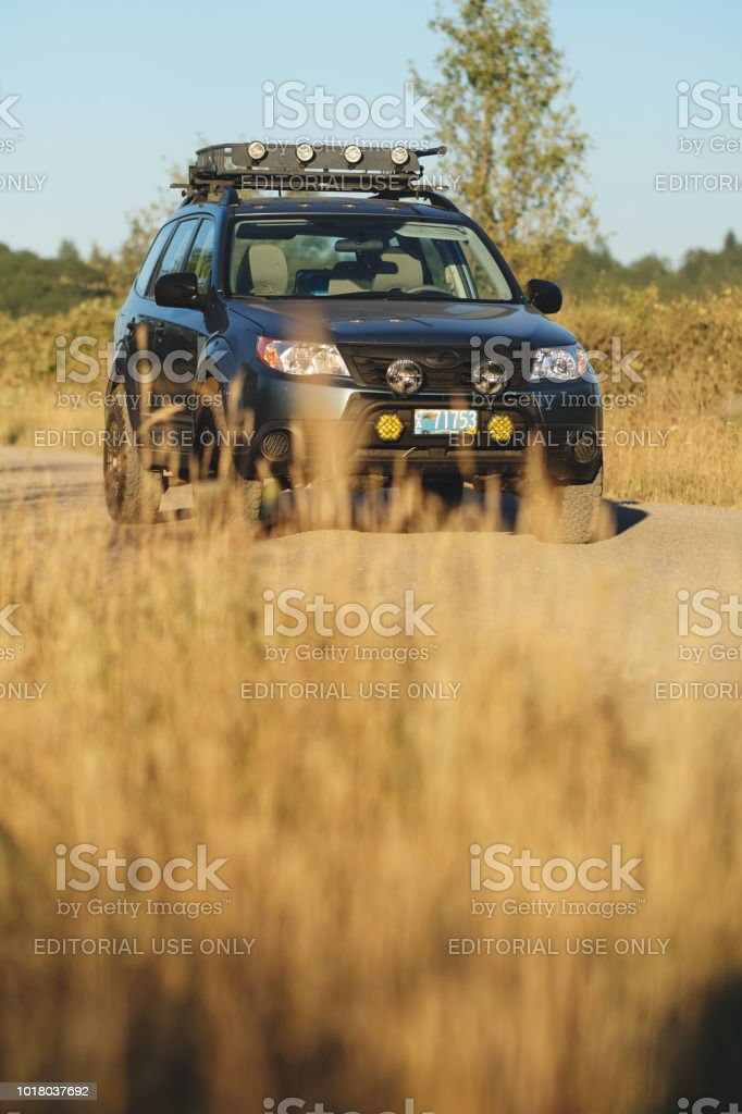 Subaru Forester On A Rural Gravel Road Stock Photo & More