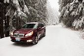 istock Subaru Outback in the snow 157727346