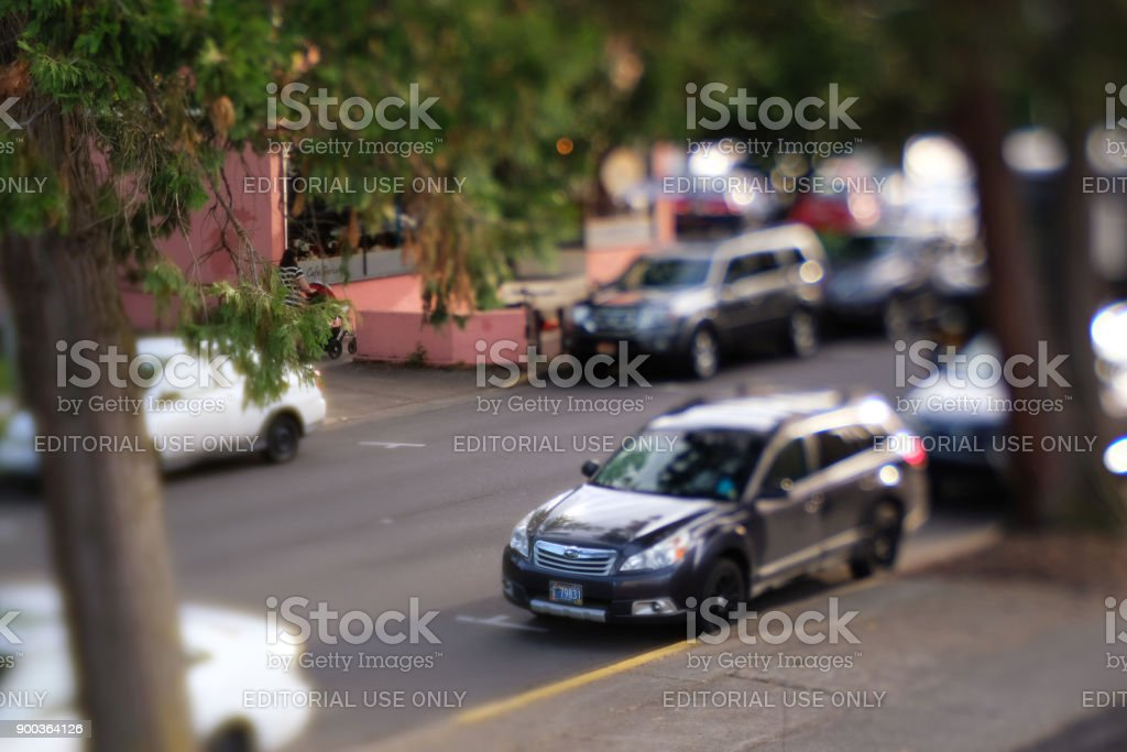 Subaru Outback on the Street stock photo