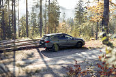 istock Subaru Outback with permanent all-wheel drive on the mountain roads. Model 2019, 175 hp engine 1223431426