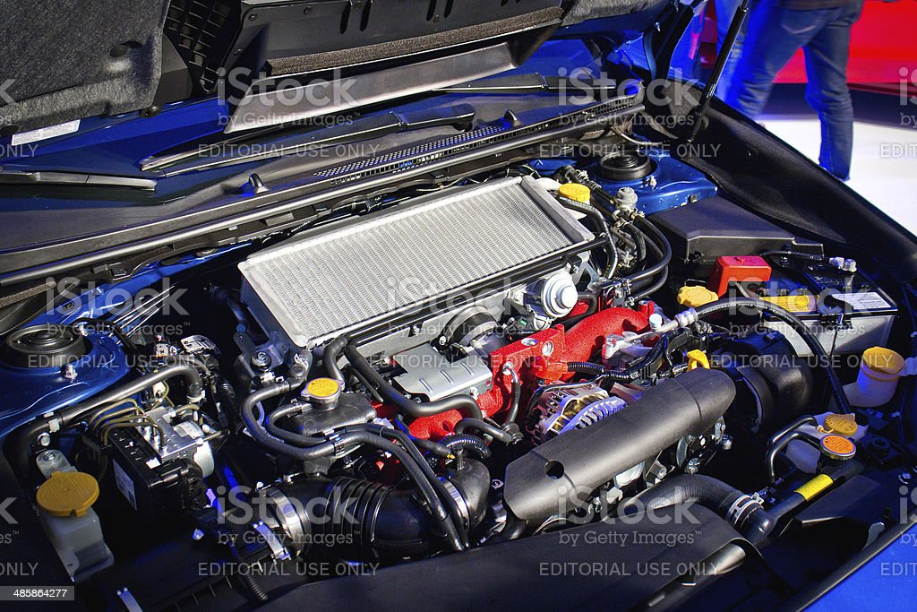 Subaru WRX STI 2014 2015 Engine royalty-free stock photo