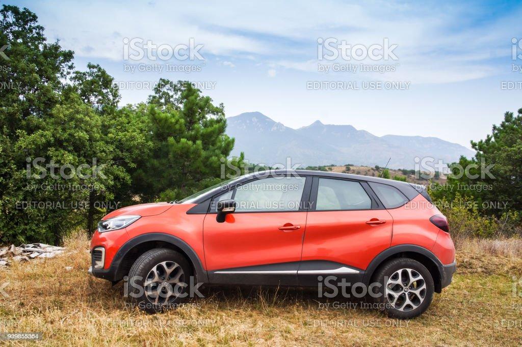 Subcompact crossover Renault Captur car stock photo
