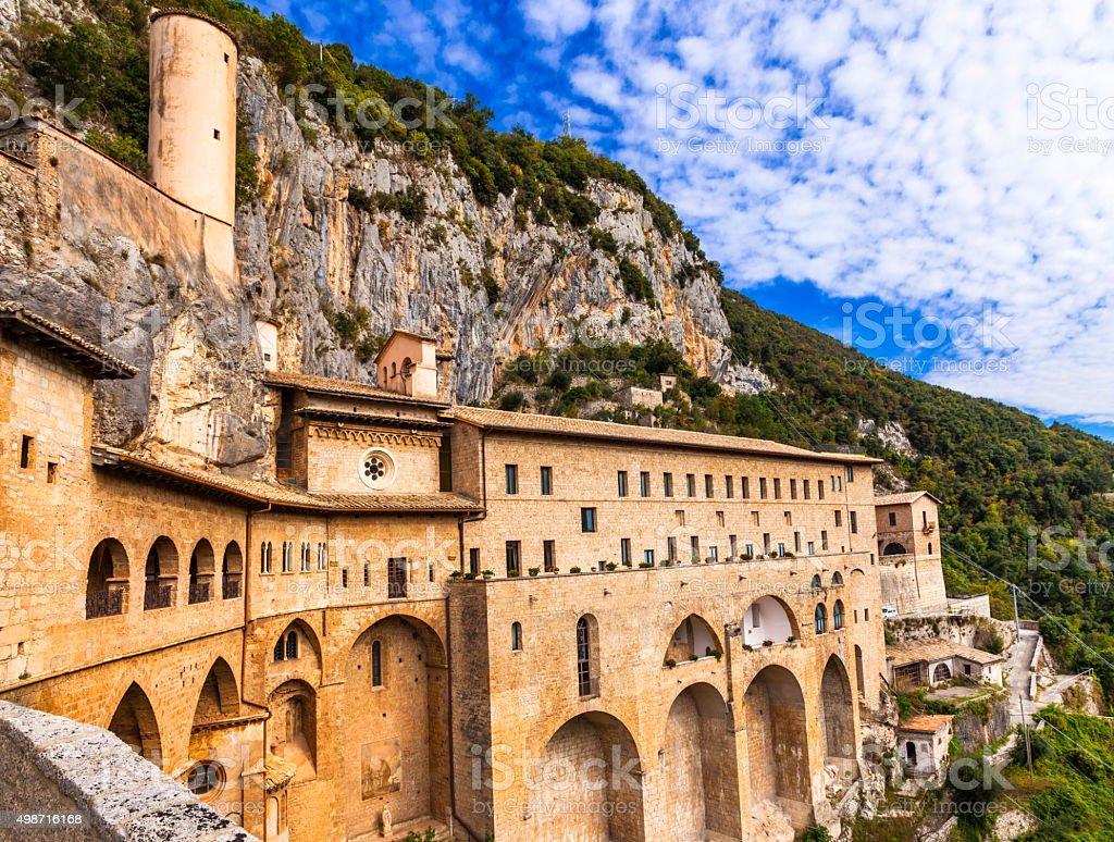 Subiaco,Lazio,Italy. stock photo