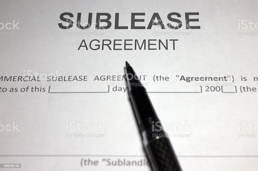 Sublease Contract stock photo