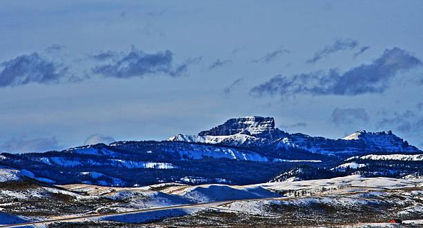 Sublette Peak in Absaroka Mountain Range on Togwotee Pass stock photo