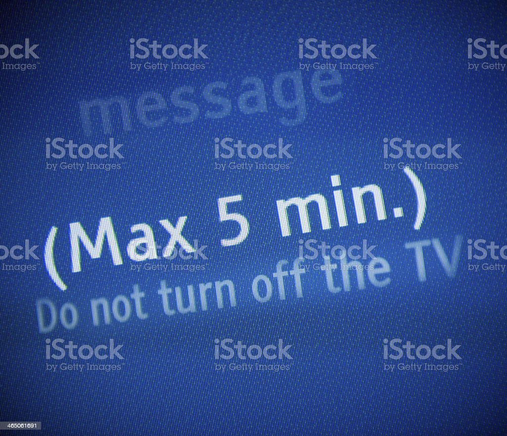 Subliminal advertising pause on a TV stock photo