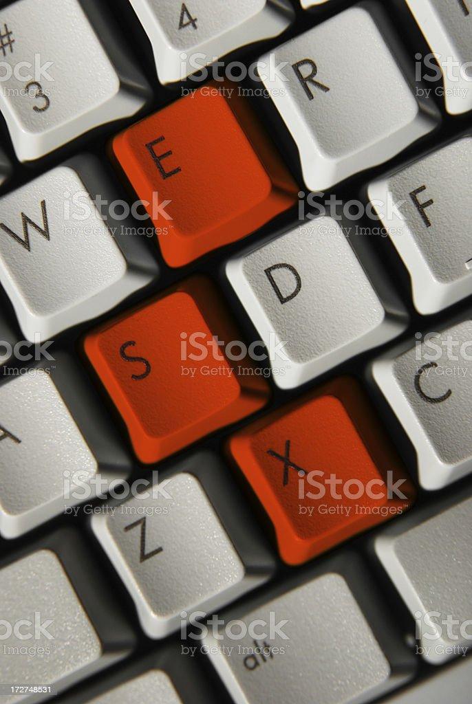 Subliminal keyboard stock photo