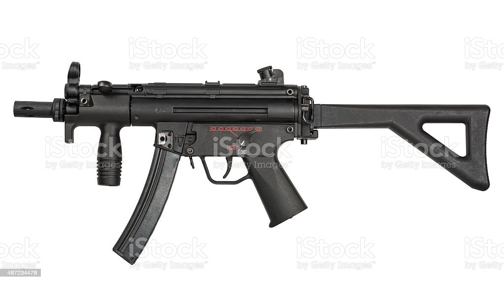 Submachine Gun - isolated stock photo