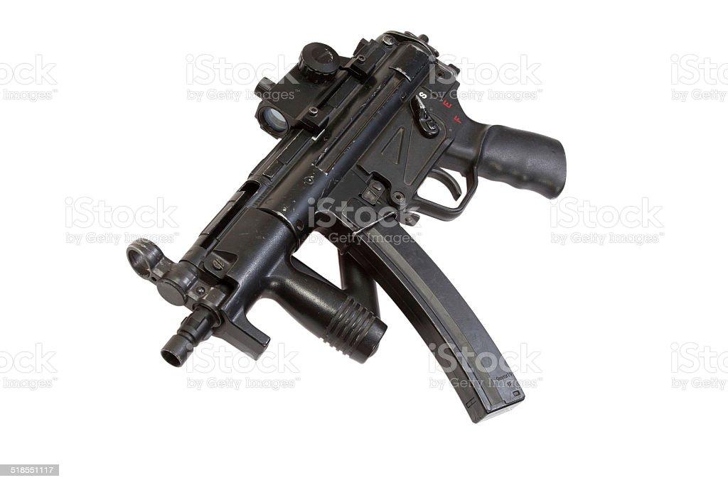 submachine gun MP5 isolated stock photo
