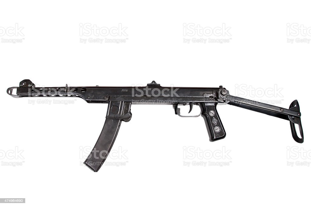 submachine gun pps isolated on a white background stock photo