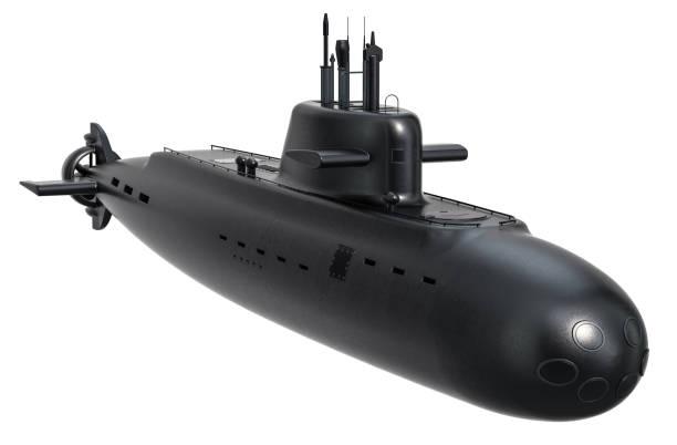 procesamiento submarino, 3d aislado sobre fondo blanco - submarino fotografías e imágenes de stock