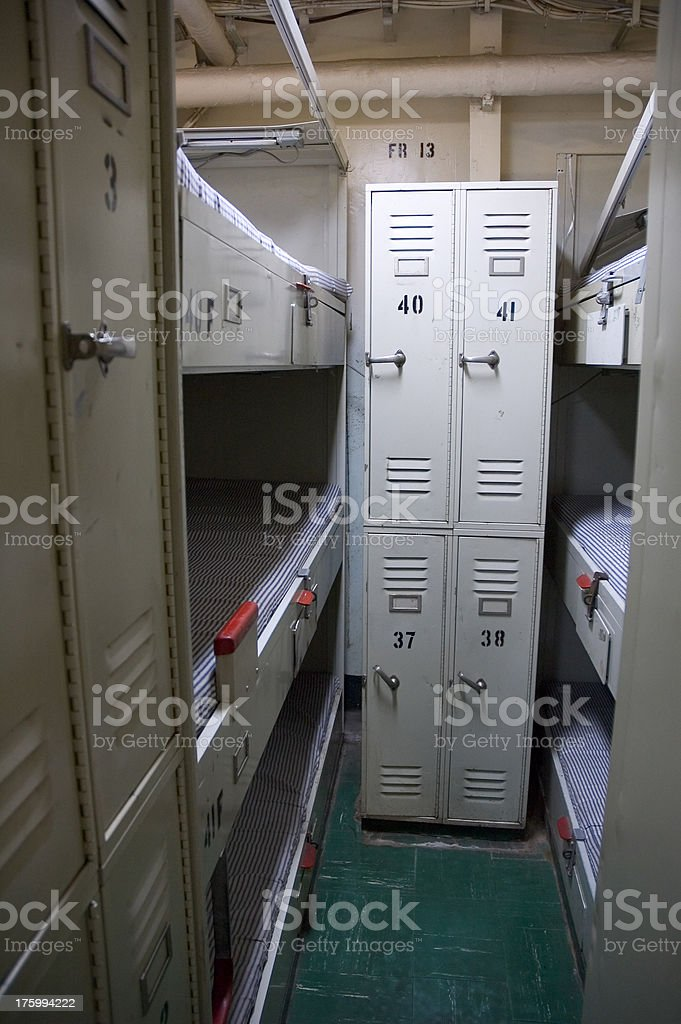 Submarine Barracks stock photo