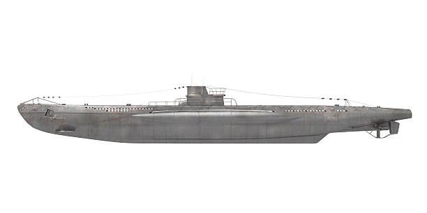 submarine isoliert - u boote stock-fotos und bilder