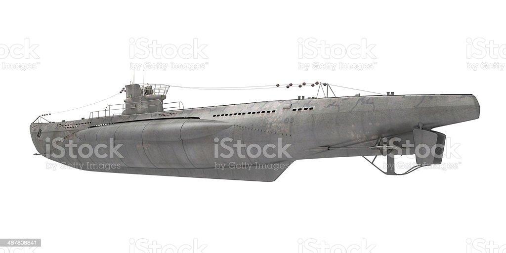 Submarine Isolated stock photo