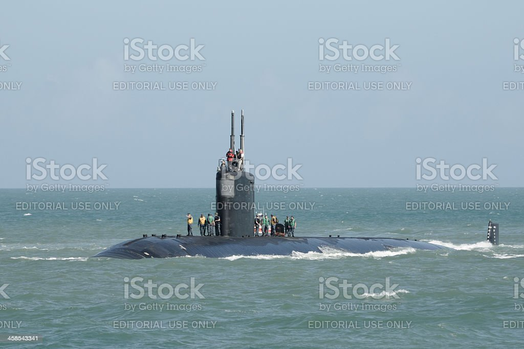 Submarine off Cape Canaveral stock photo