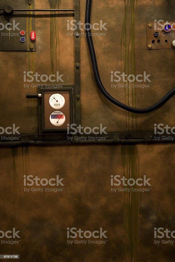 Submarine panel royalty-free stock photo