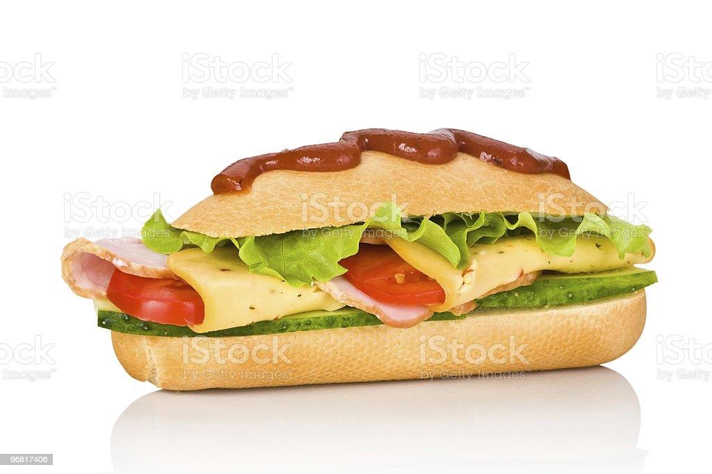 submarine sandwich isolated on white background royalty-free stock photo