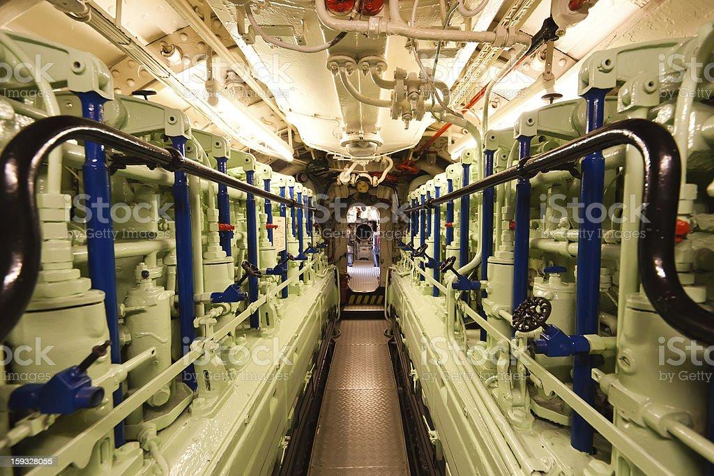 Submarine Art VIIC/41-diesel-Motor - Lizenzfrei Anzeigeinstrument Stock-Foto