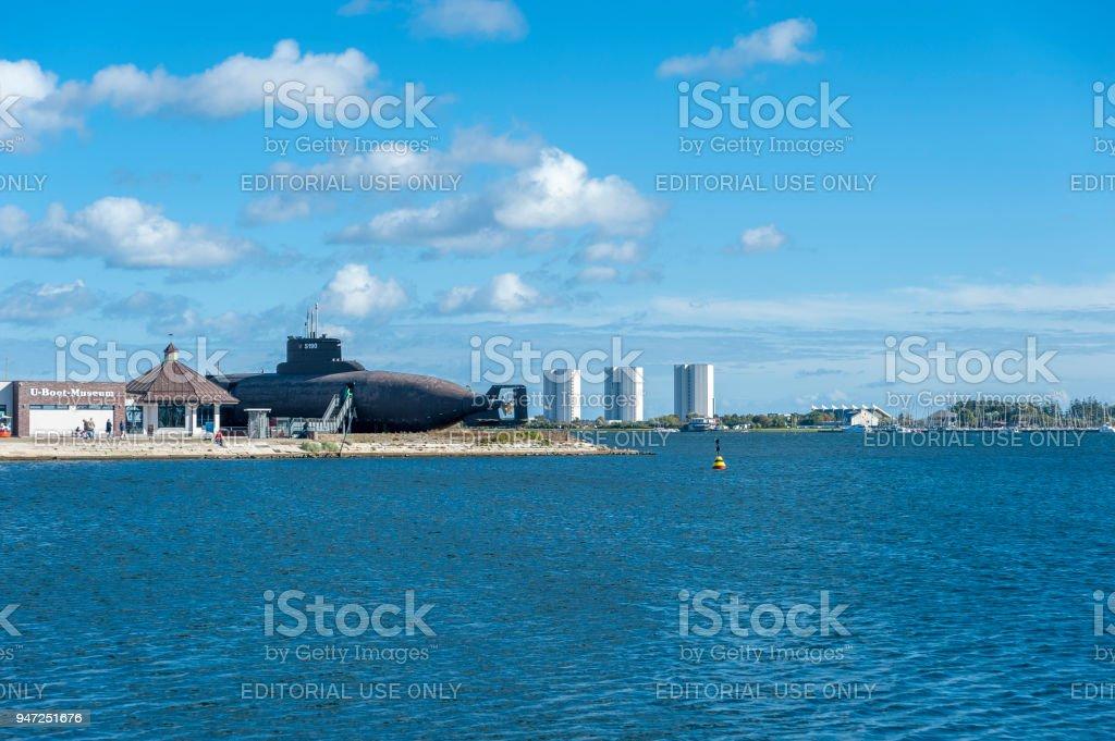 Submarine U11 in Burger inland lake in Burgstaaken stock photo