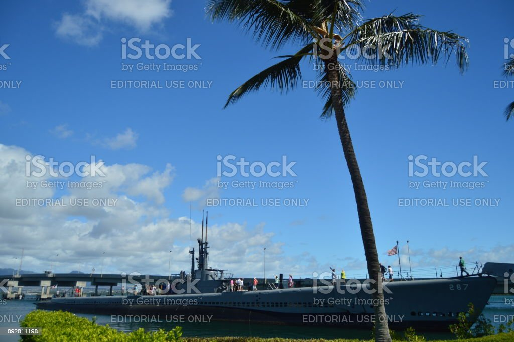 Submarine USS Bowfin. Pearl . stock photo