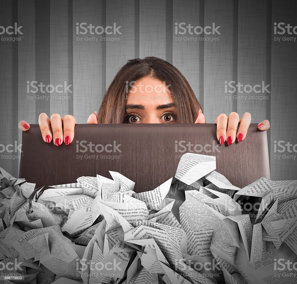 Submerged by the e-mail spam stock photo