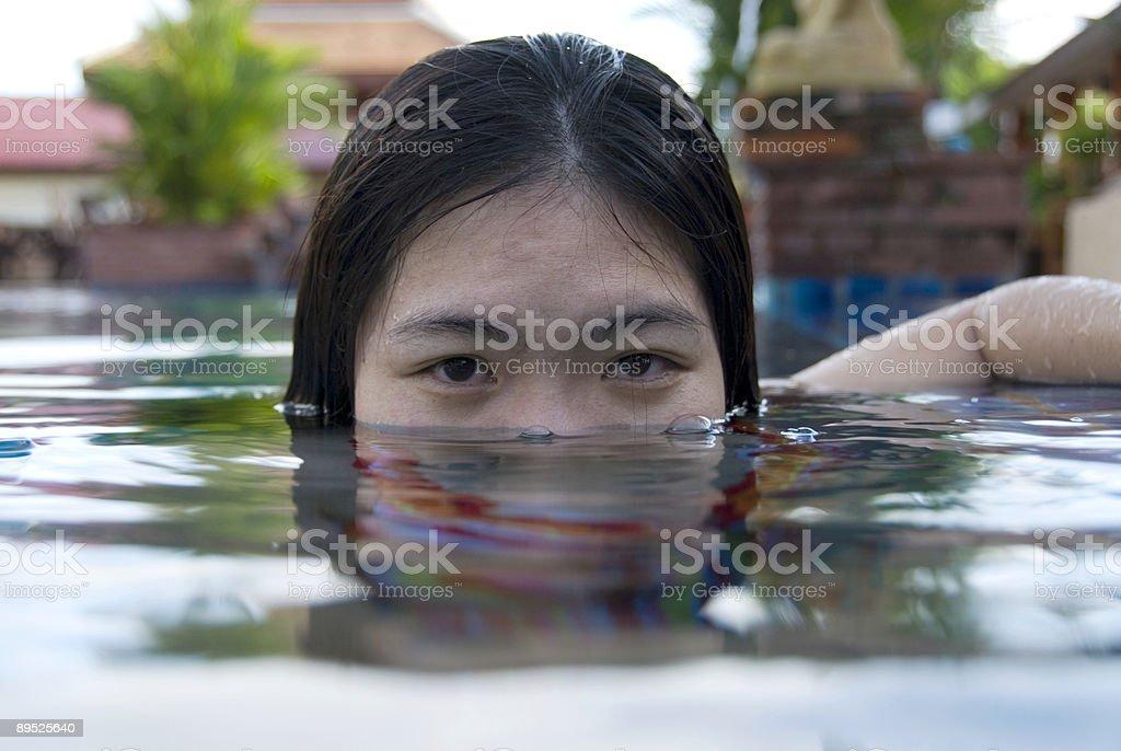 Submerged royalty-free stock photo
