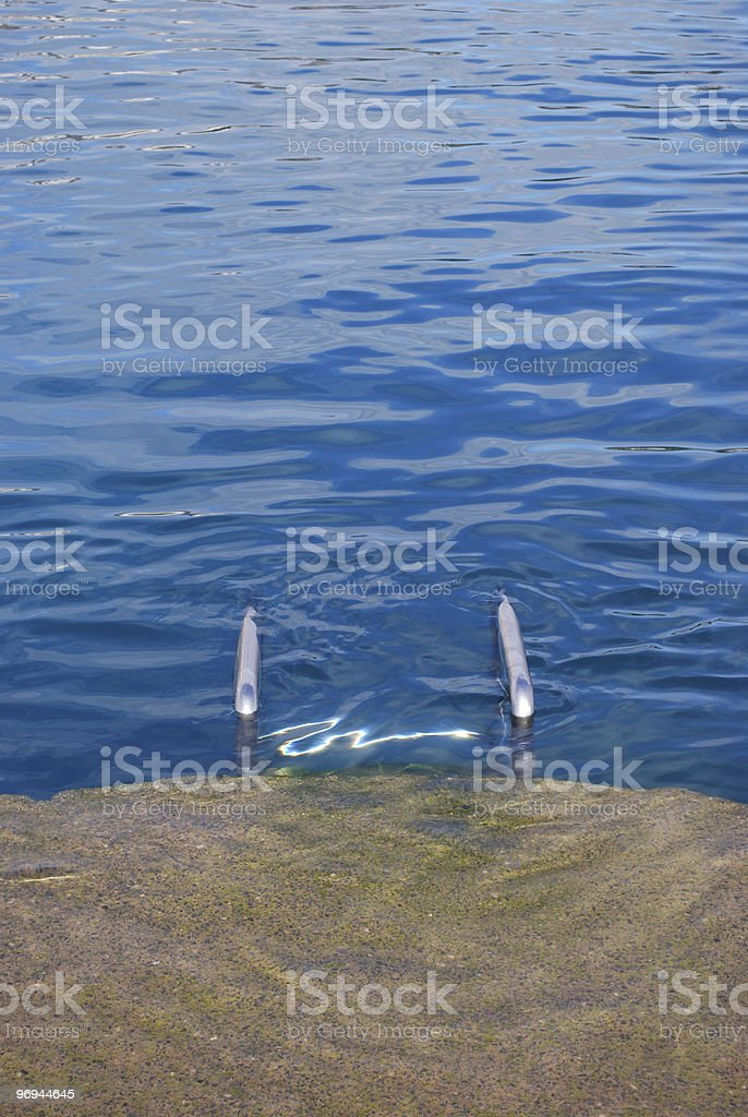 Submerged Steps royalty-free stock photo