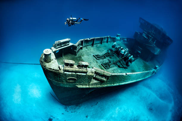 subron 6, kittiwake - shipwreck stock pictures, royalty-free photos & images