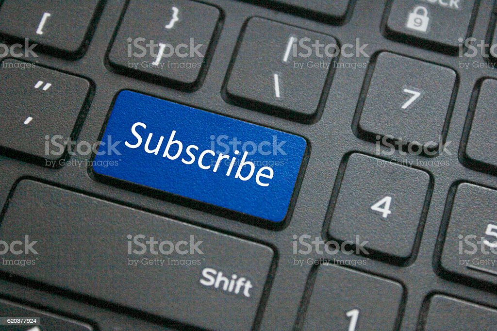 Subscribe button on keyboard foto de stock royalty-free