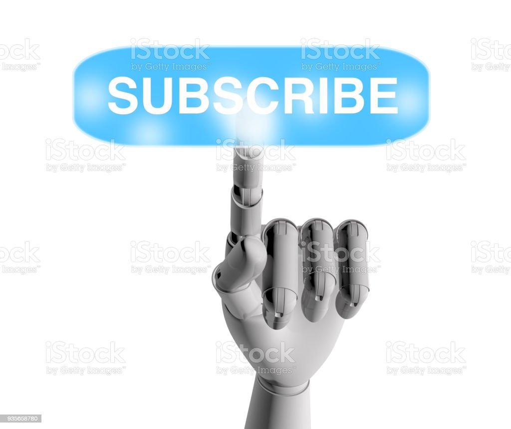 Subscribe Button stock photo