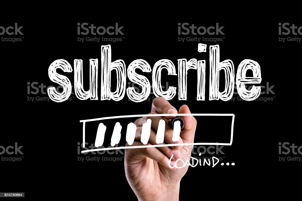 Subscribe stock photo