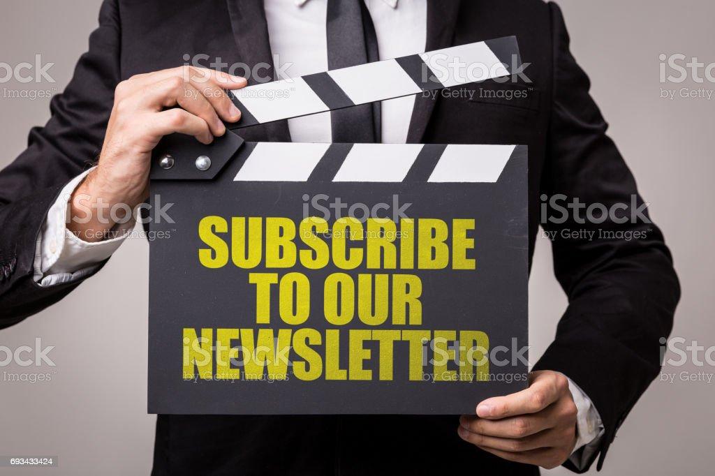 Subscreva a nossa Newsletter - foto de acervo