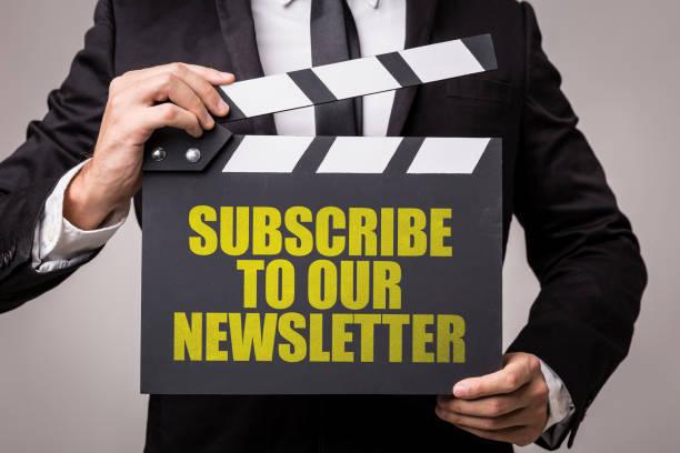 subscribe to our newsletter - feedback icon imagens e fotografias de stock