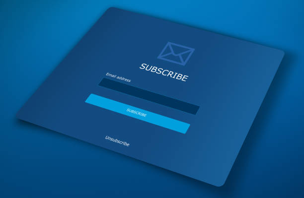 Subscribe web form - foto stock