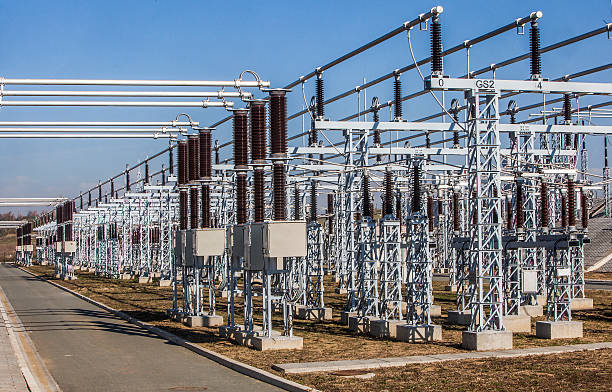 substation - transformers stock photos and pictures