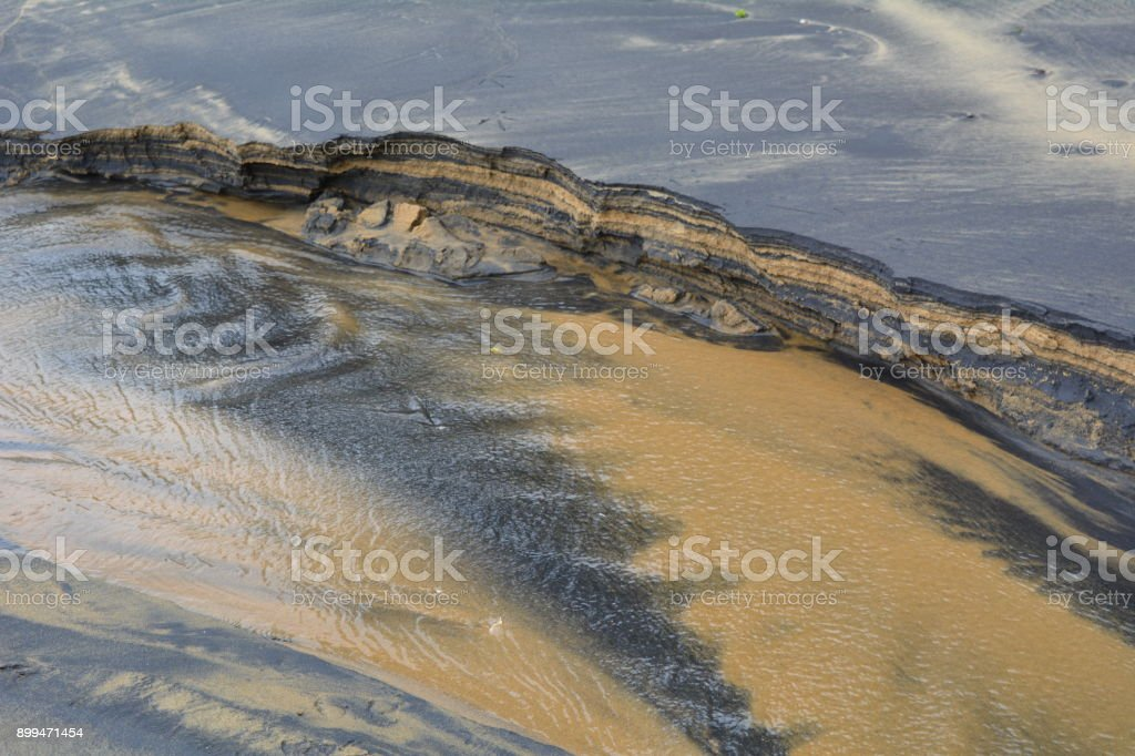 substrate, layers of sand stock photo