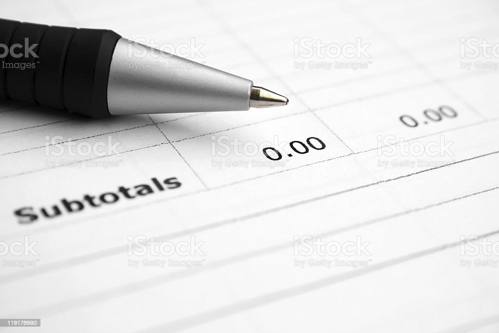 Subtotals zero royalty-free stock photo
