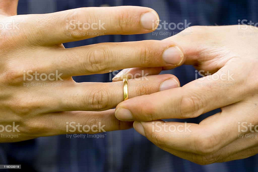 Subtracting the wedding ring royalty-free stock photo
