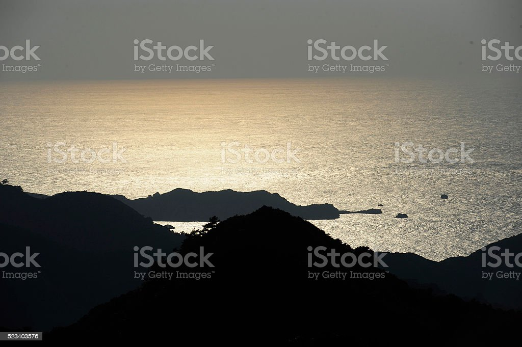 Subtropiac sea in Ogasawara stock photo