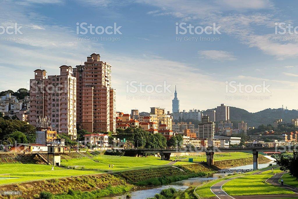 suburb cityscape of Taipei royalty-free stock photo