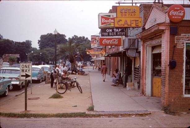 Suburb in New Orleans, 1960 stock photo