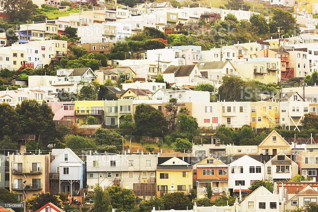 Suburb Neighborhood Community San Francisco stock photo