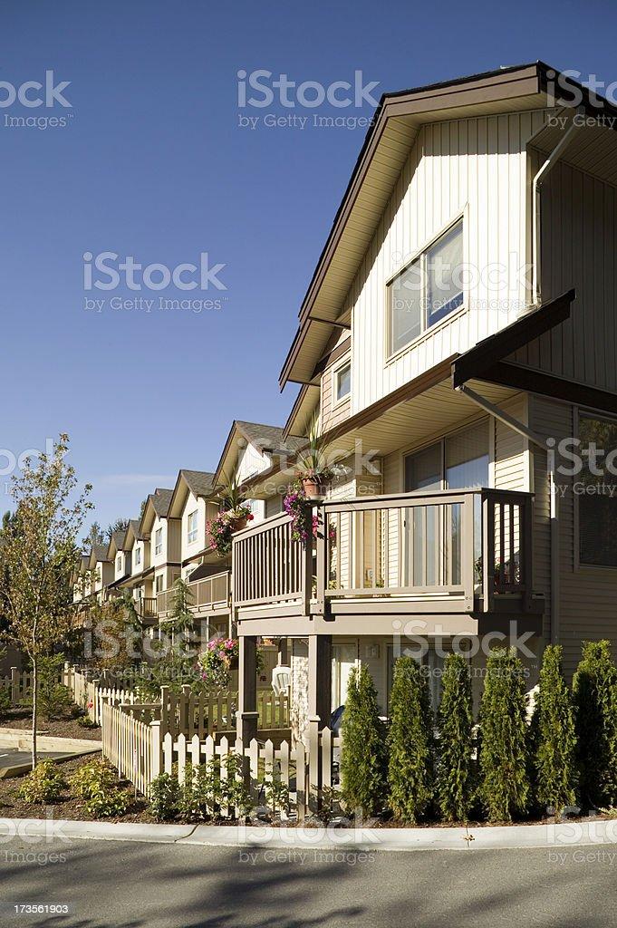 suburb neighborhood townhouse royalty-free stock photo