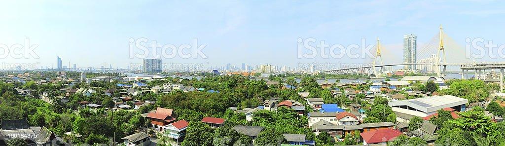 Suburb of Bangkok royalty-free stock photo