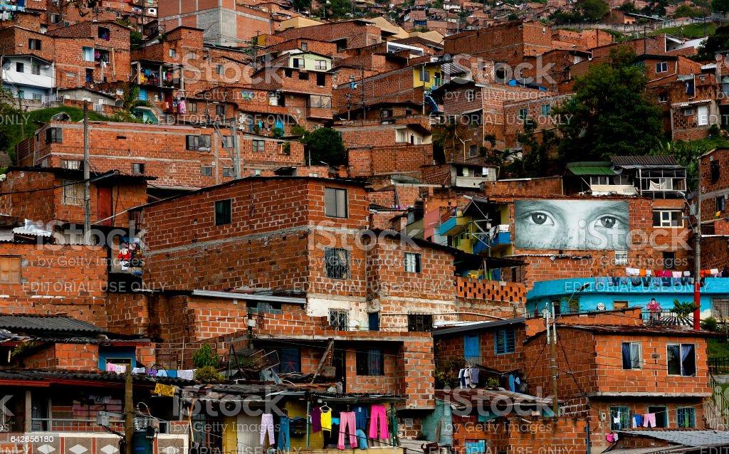 Suburb of Medellin, Colombia stock photo