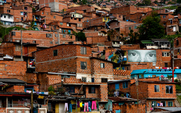 Suburb of Medellin, Colombia stock photo