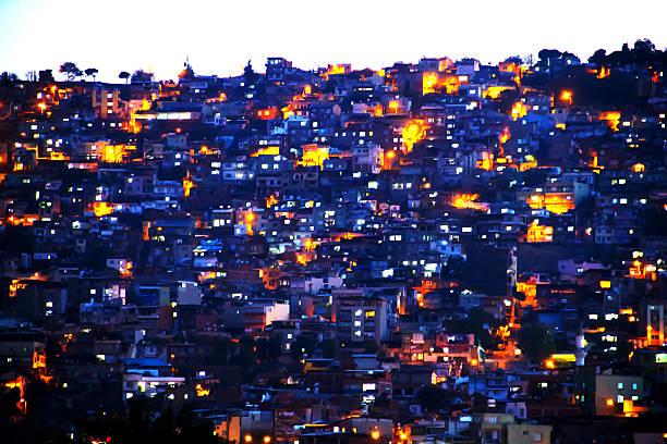 suburb part of izmir - soziologie stock-fotos und bilder