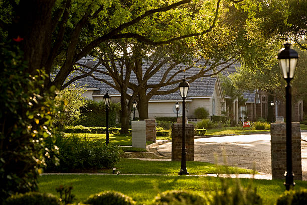 suburb - suburban street stock photos and pictures