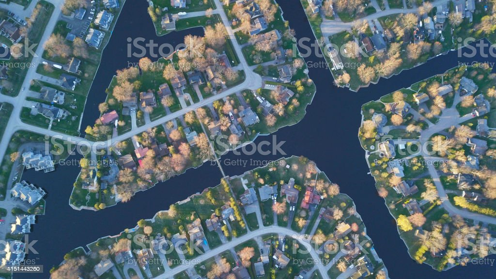 Canada Aerial Map Suburban Aerial View Ontario Canada Stock Photo   Download Image