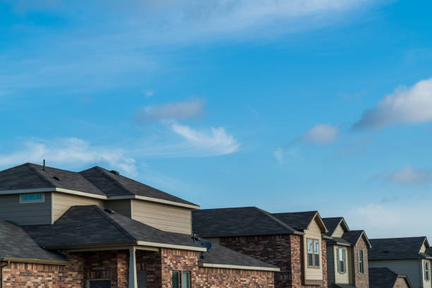 Suburban Brick Homes neighborhood stock photo